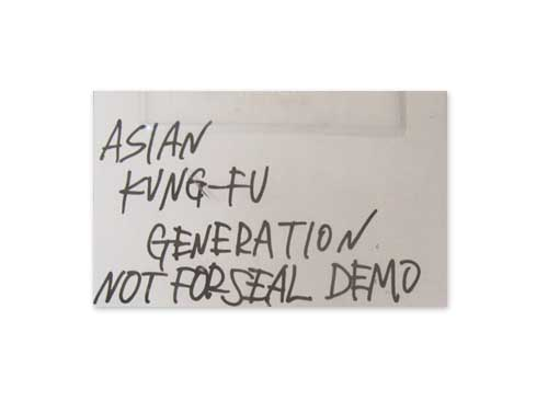 NOT FOR SEAL DEMO[自主制作デモテープ]/ASIAN KUNG-FU GENERATION